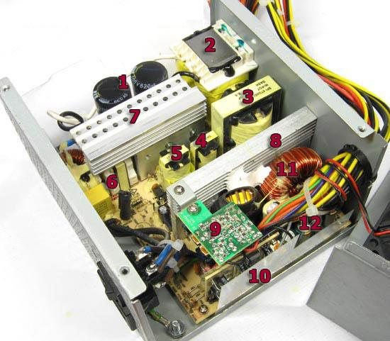 400 Вт блок питания с пассивной коррекцией коэффициента мощности