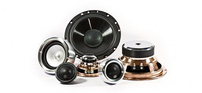 Большой выбор компонентов и динамиков для акустических систем