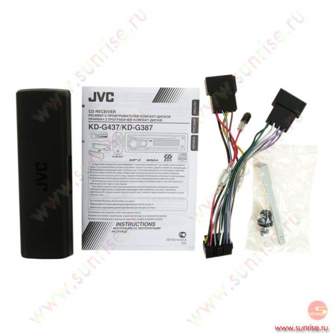 CD автомагнитола JVC KD-G387.