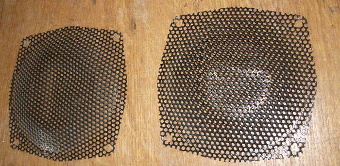 Деформированные сетки с НЧ-динамиков Radiotehnika S-30