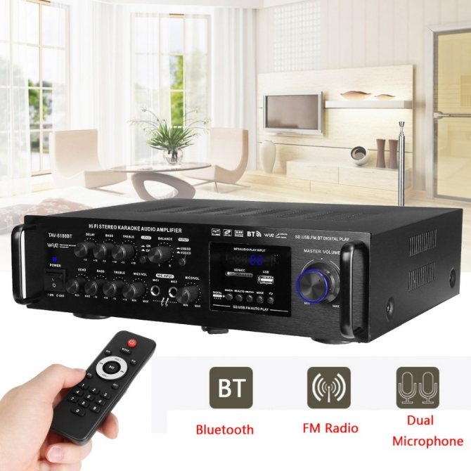 Хороший усилитель звука для колонок, телевизора и микрофона