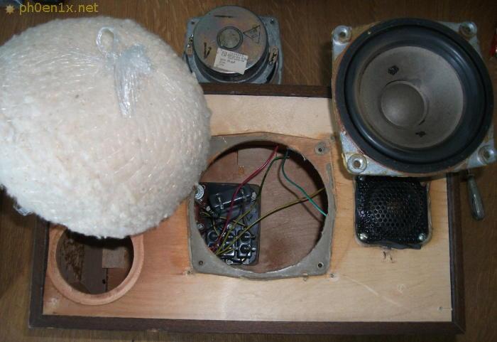 Извлечение низкочастотного динамика из колонки Радиотехника S30