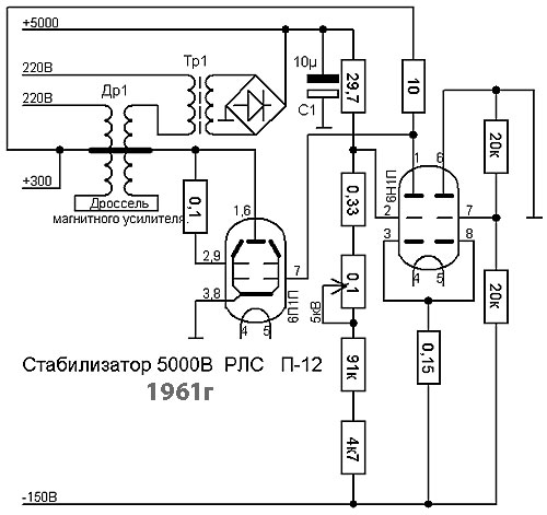 Магнитный усилитель стабилизатор 5000В