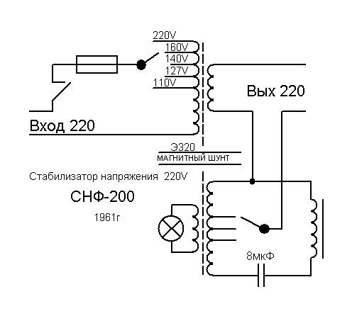 Магнитный усилитель стабилизатор СНФ-200.