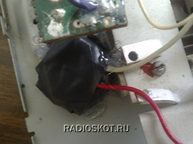 Модулятор обмотан изоляционной лентой