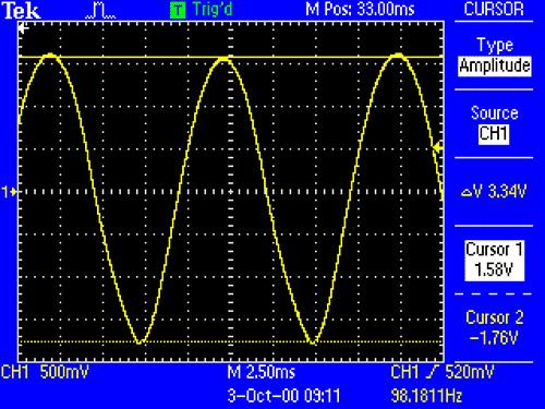 Напряжение пульсации на нагрузке при питании схемы напряжением с частотой 50Гц