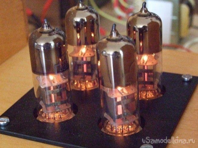 Однокаскадный ламповый SRPP усилитель мощности на 6Э5П