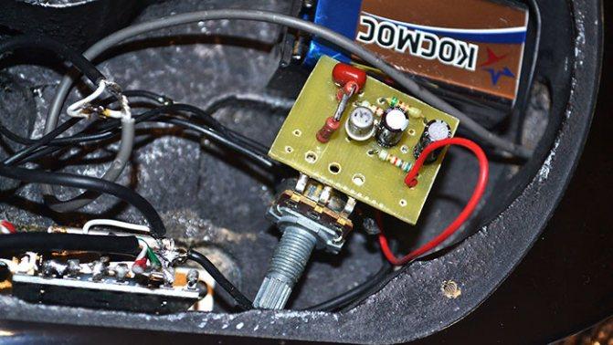 Onboard преамп для электрогитары на полевом транзисторе