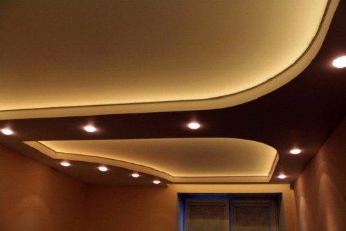 Освещение на потолке