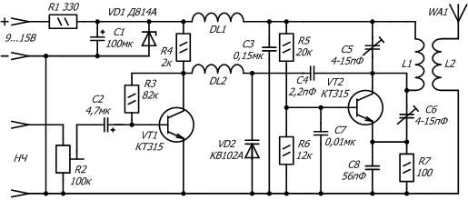 принципиальная схема передатчика