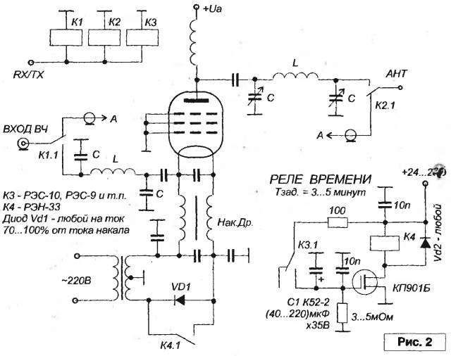 РА на лампе ГУ-13, 6П45 или ГК-71, ГУ-50 CVAVR CAVR AVR CodeVision cavr.ru