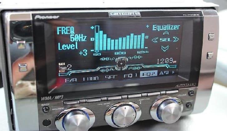 Регулировка эквалайзера аудиосистемы
