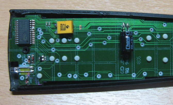 Рисунок 2 – Вид платы ПДУ с установленным электролитическим конденсатором