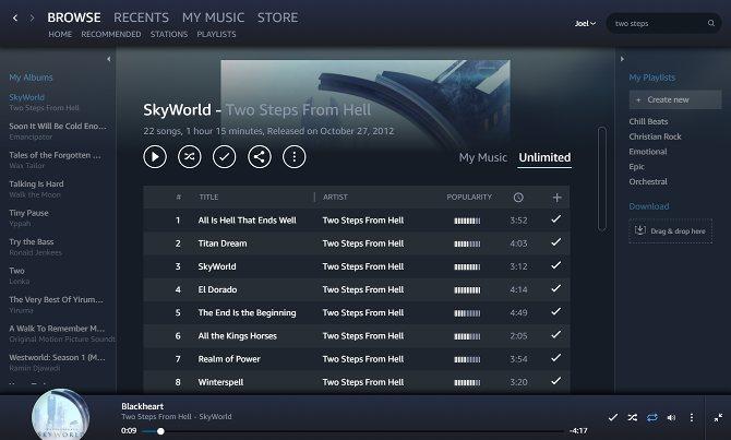 Сервис Amazon Music Unlimited