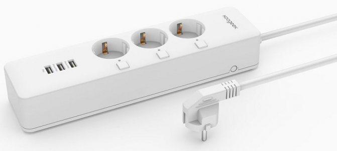 Сетевой фильтр для умного дома Koogeek Smart Outlet O1EU