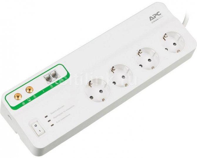 Сетевой фильтр с дополнительной возможностью APC PMF83VT-RS 3 м