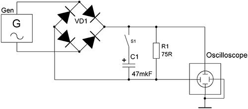 Схема для измерения пульсаций