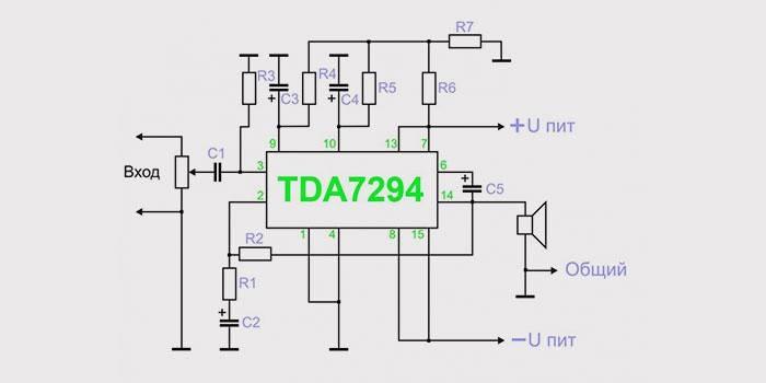 Схема для сабвуфера на микросхеме TDA 7294 5=Усилитель для сабвуфера схема авто