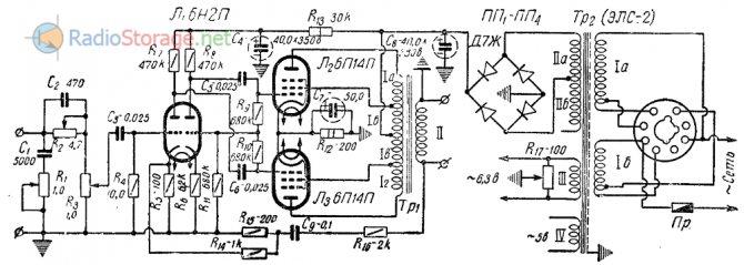 Схема лампового усилителя на г807