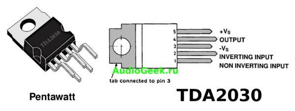 Схема повторителя на ОУ, повторитель напряжения, схема мощного повторителя напряжения TDA2030