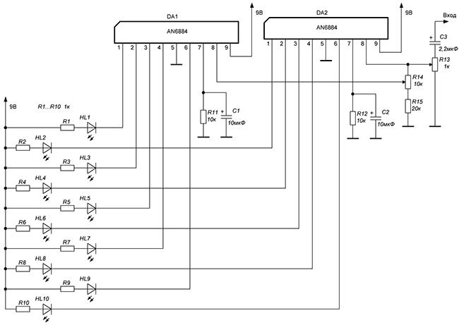 Схема с двумя AN6884