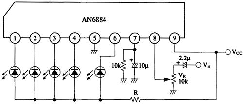 Схема включения AN6884 по даташиту