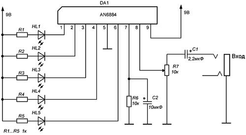 Схема включения AN6884