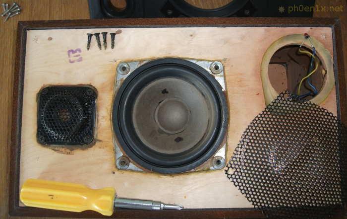 Снимаем защитную сетку с НЧ-динамика колонки Radiotehnika S-30