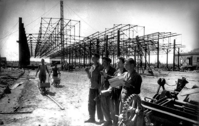 Строительная площадка завода