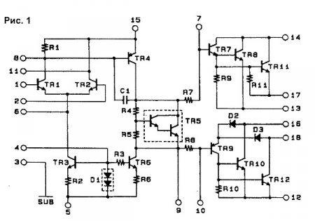 Структурная схема STK4048II