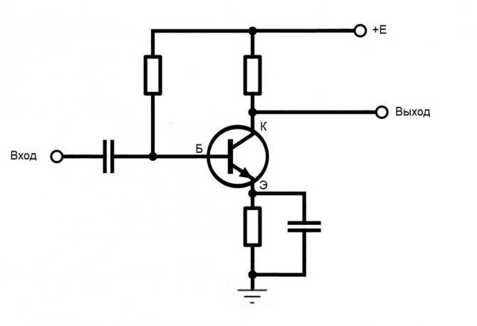 УНЧ на биполярном транзисторе