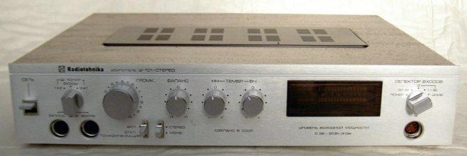 усилитель радиотехника у 101 стерео схема