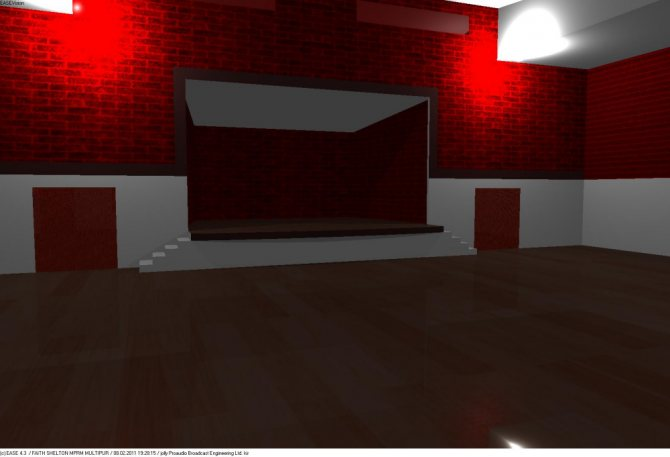 Вид помещения для проведения дискотек и концертов, объемом – около 2060 м3.