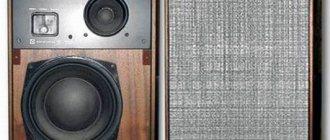 Внешний вид колонок Радиотехника 35АС-1