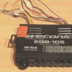 Внешний вид усилителя мощности Weconic EQB-105 с 7-ми полосным эквалайзером