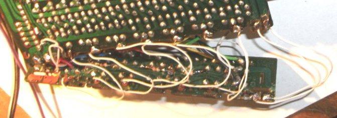Временное соединение плат при помощи гибких проводников