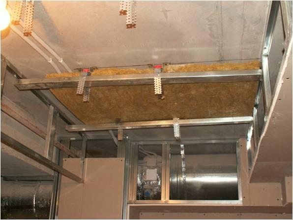 Звукоизоляция потолка работы